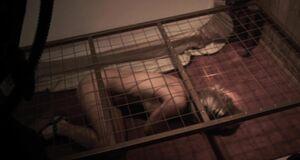 Бетси Ру без одежды в клетке
